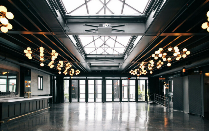 natural light flooding the indoor event space at 501 union in New York City
