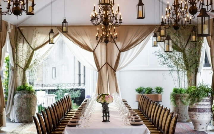 An event setup at the NYC venue the Nomad