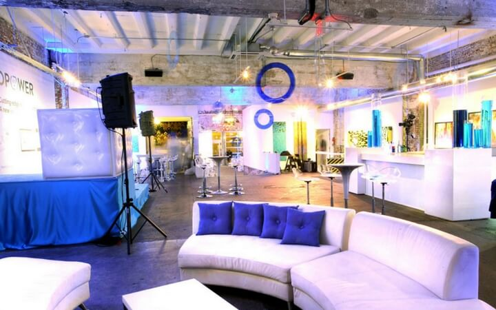 A trendy event space at the Long View Gallery in Washington D.C.