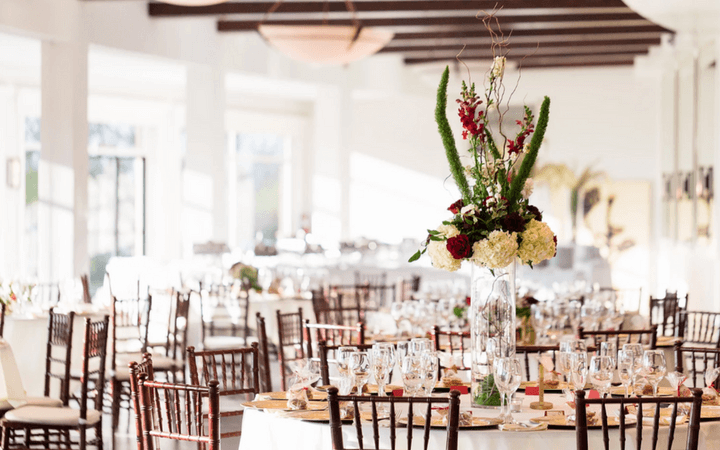 A gorgeous event setup for a wedding reception at Canyon View in San Francisco