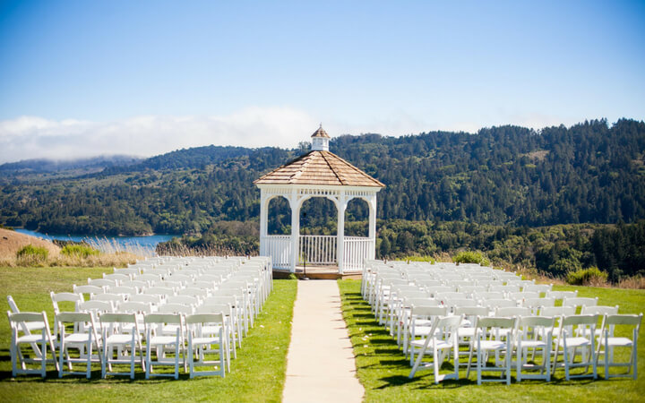 A gorgeous view of the valley at Fairview, a unique wedding venue in the San Francisco area