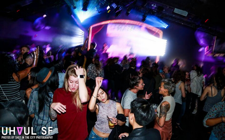 A private event at the Oasis nightclub in San Francisco