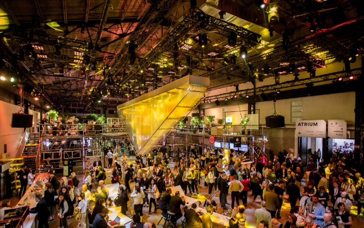 A photo by Sebastien Roy of the meetings industry event C2 Montreal